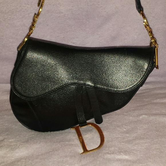 Christian Dior Handbags - Christian Dior Black leather saddle bag 6eb8f3cd0e47a